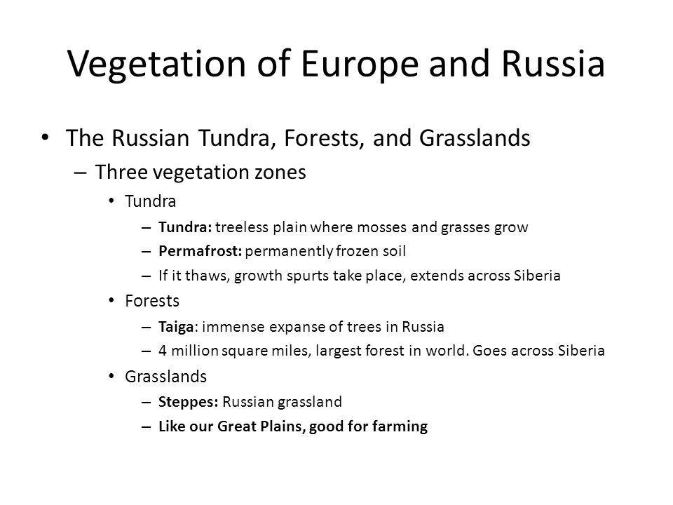 Vegetation of Europe and Russia