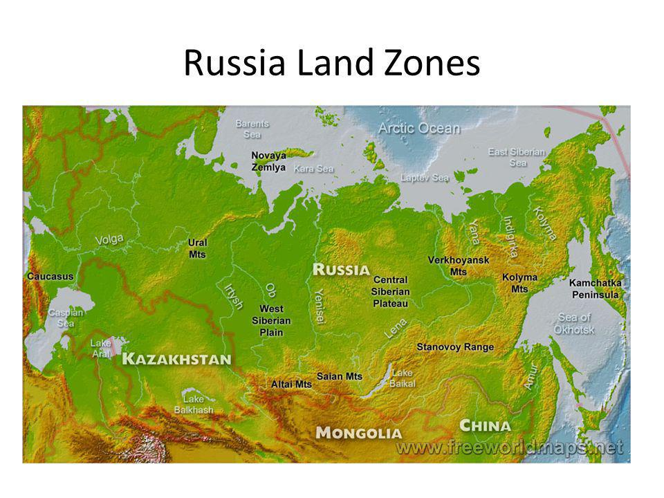 Russia Land Zones
