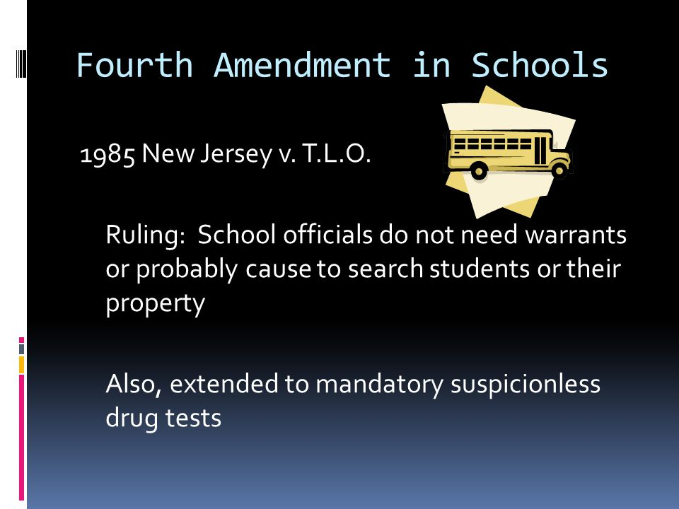 Fourth Amendment in Schools