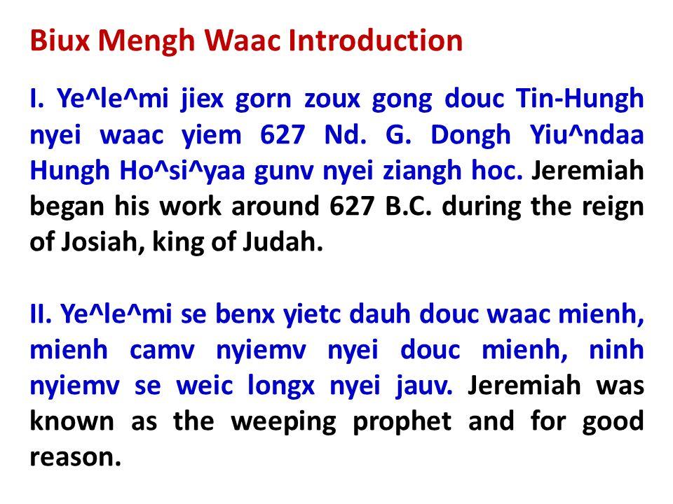 Biux Mengh Waac Introduction