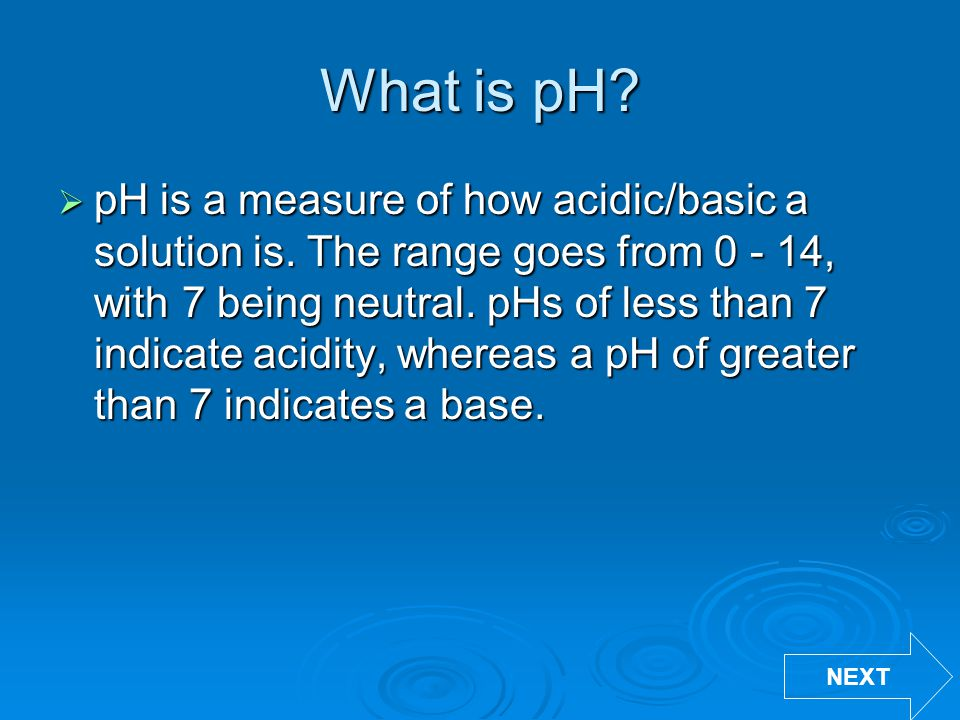 What is pH