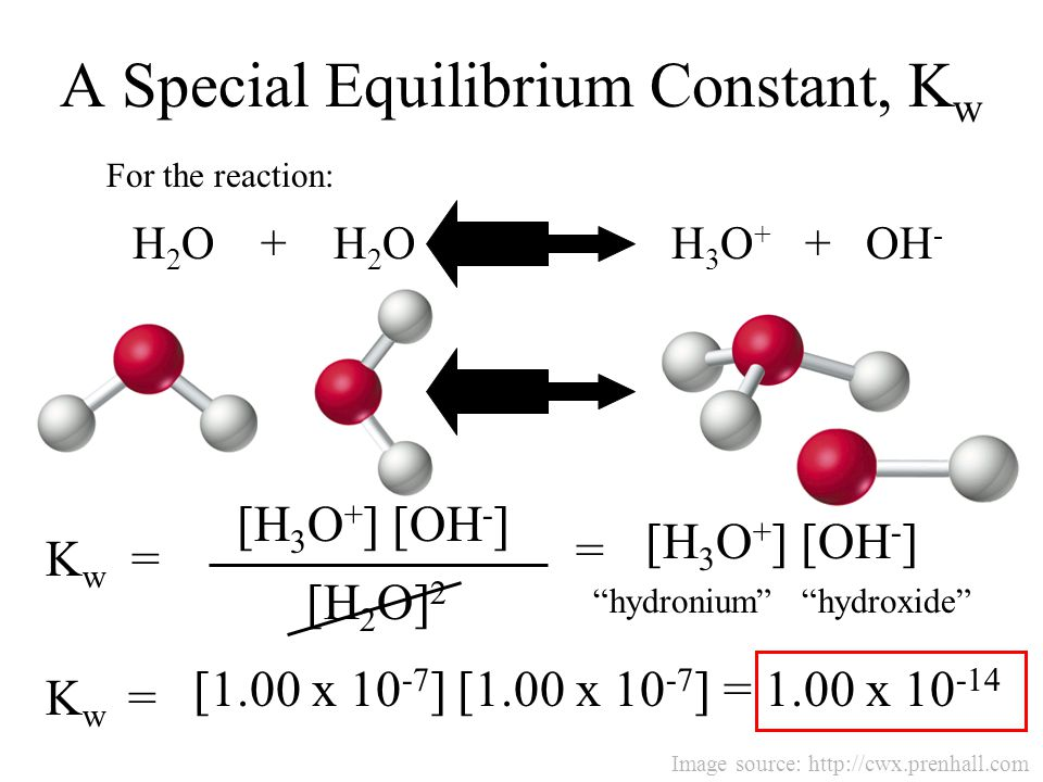 A Special Equilibrium Constant, Kw
