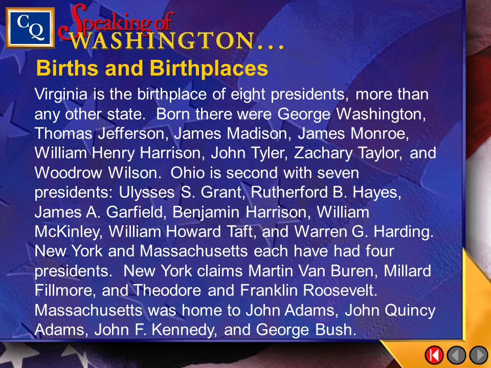 Births and Birthplaces