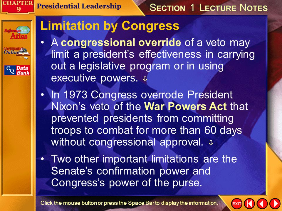 Limitation by Congress