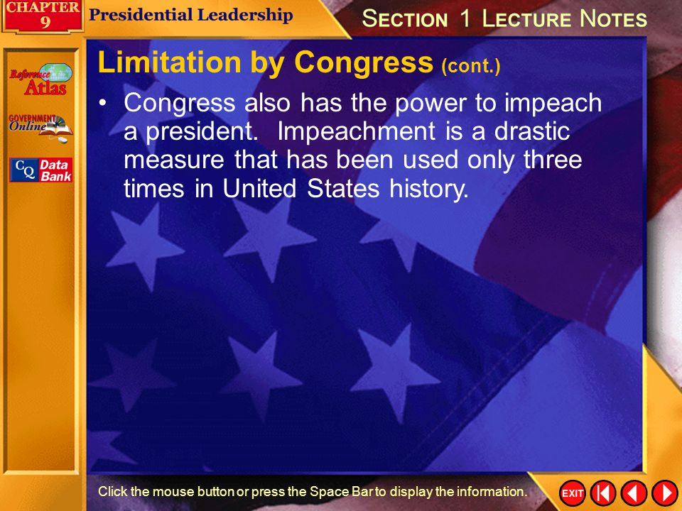 Limitation by Congress (cont.)