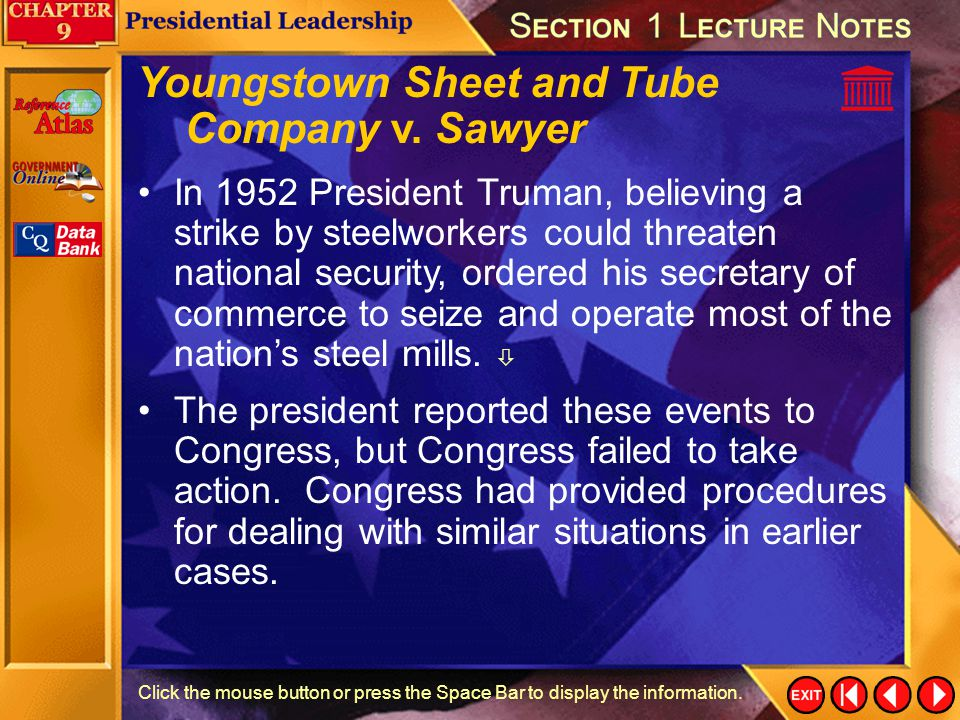 Youngstown Sheet and Tube Company v. Sawyer