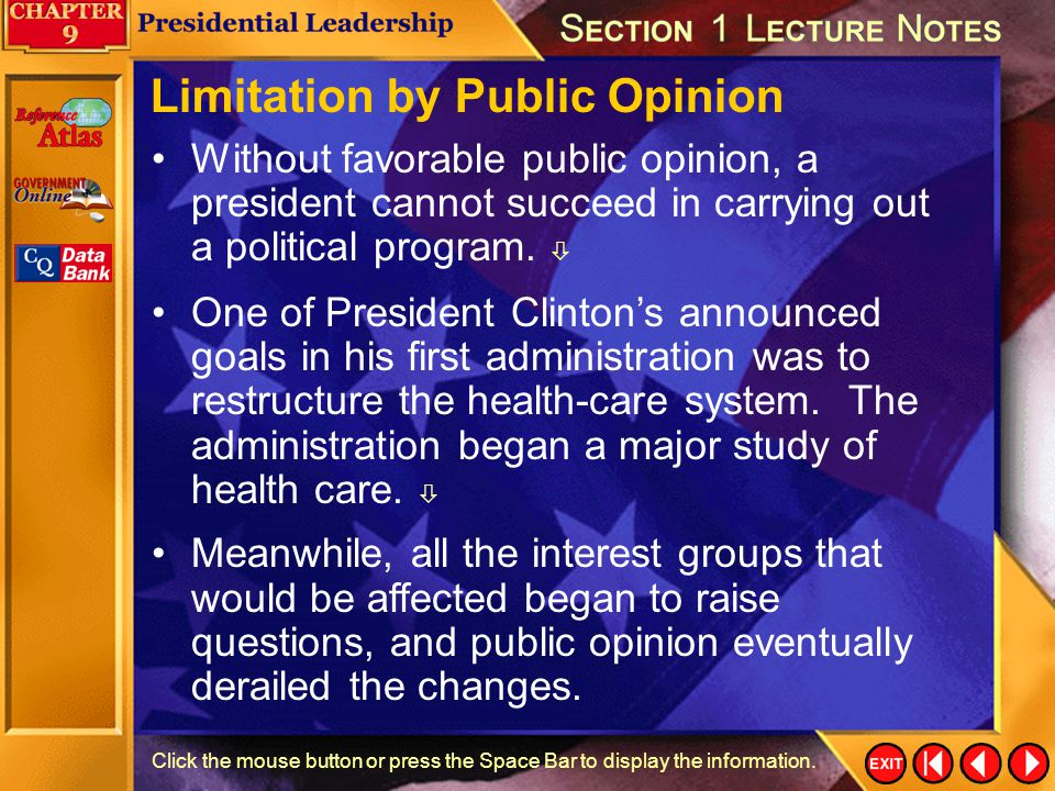 Limitation by Public Opinion