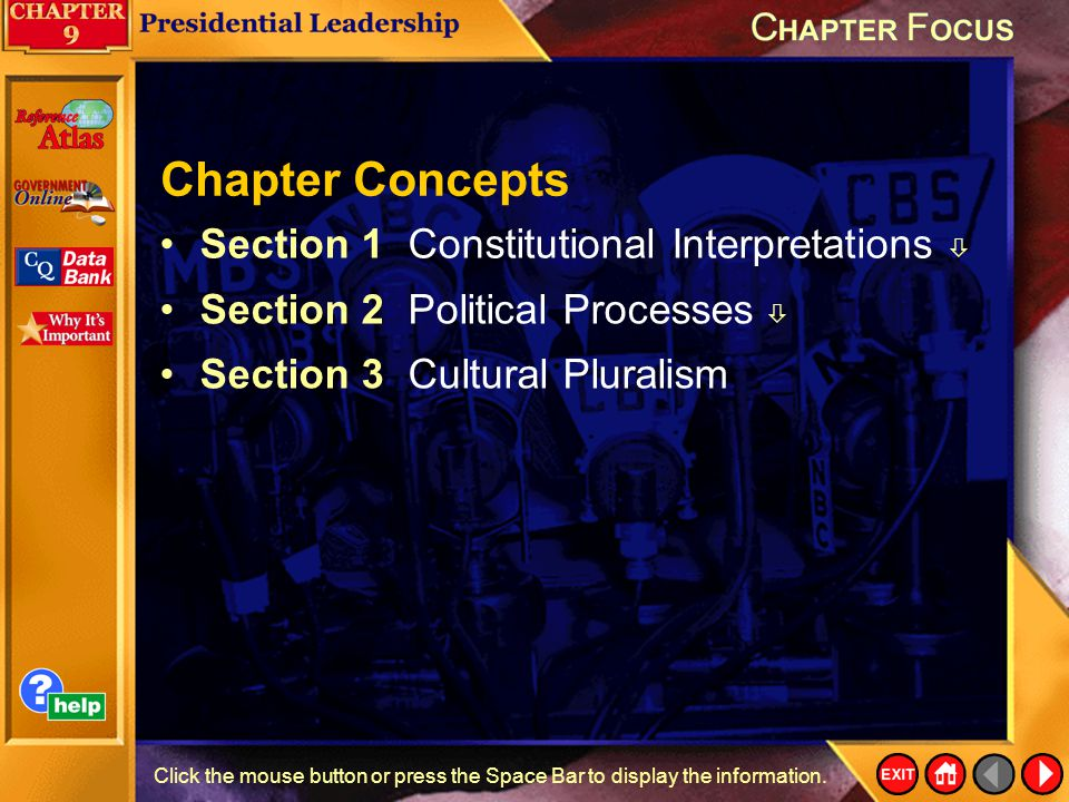 Chapter Concepts Section 1 Constitutional Interpretations 