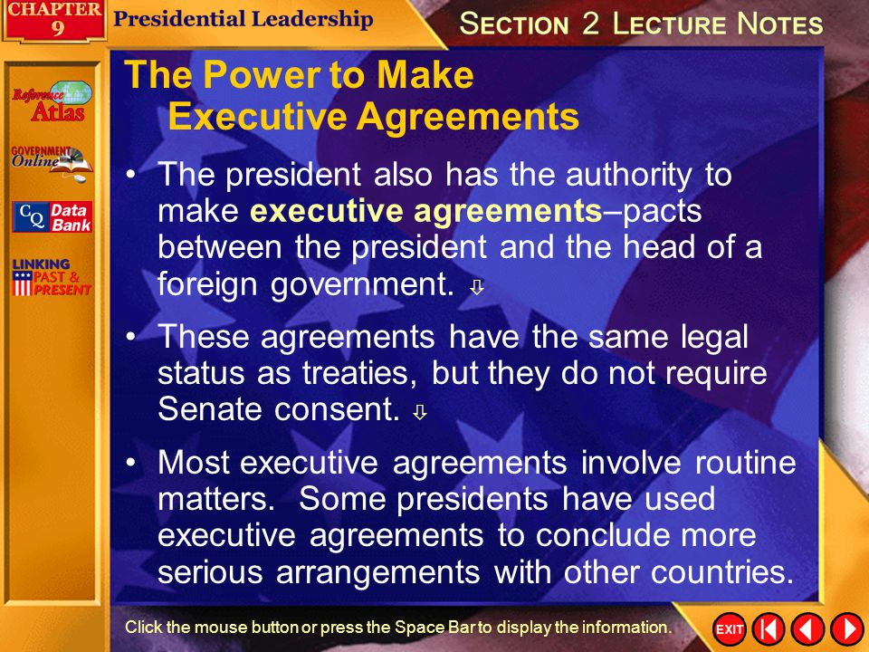 The Power to Make Executive Agreements