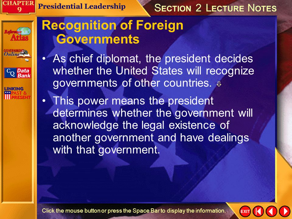 Recognition of Foreign Governments