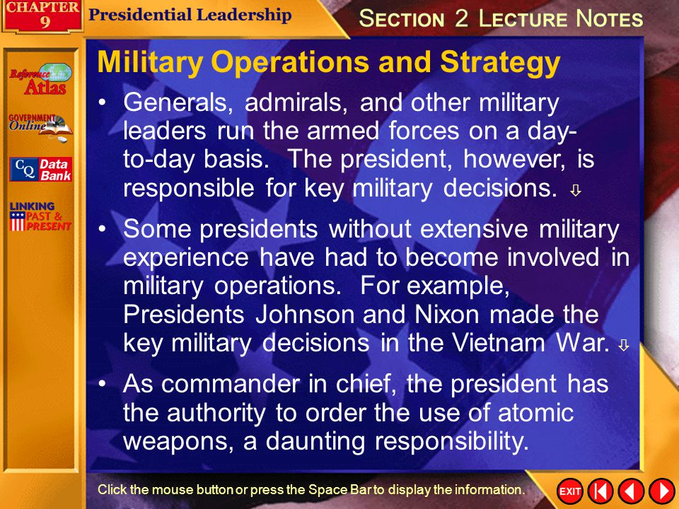 Military Operations and Strategy