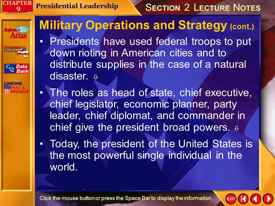 Military Operations and Strategy (cont.)