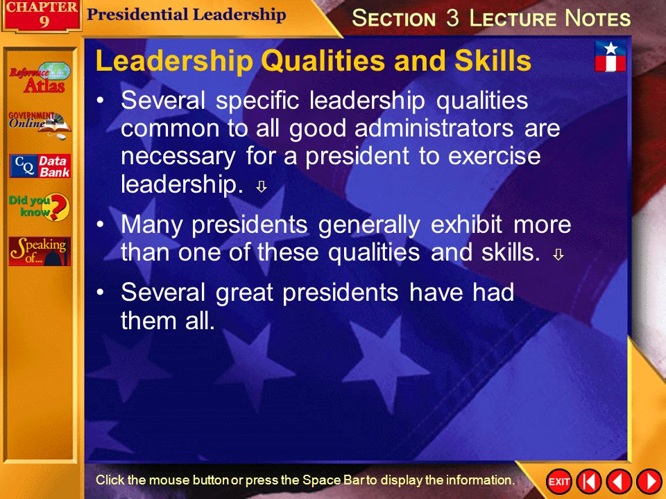 Leadership Qualities and Skills