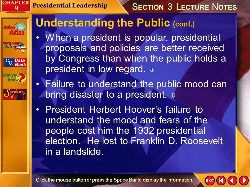 Understanding the Public (cont.)