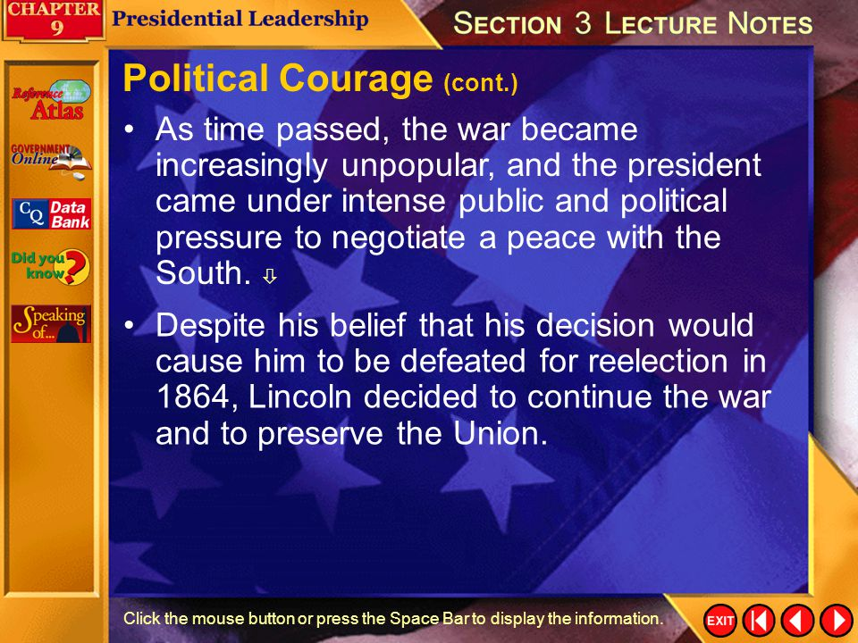 Political Courage (cont.)