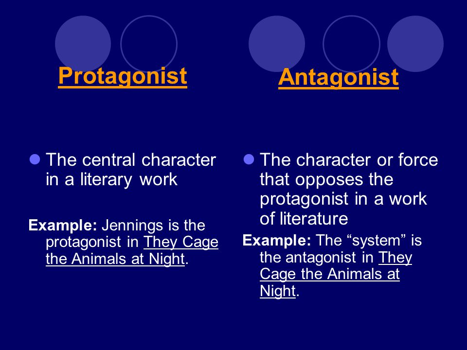 examples of protagonist in literature
