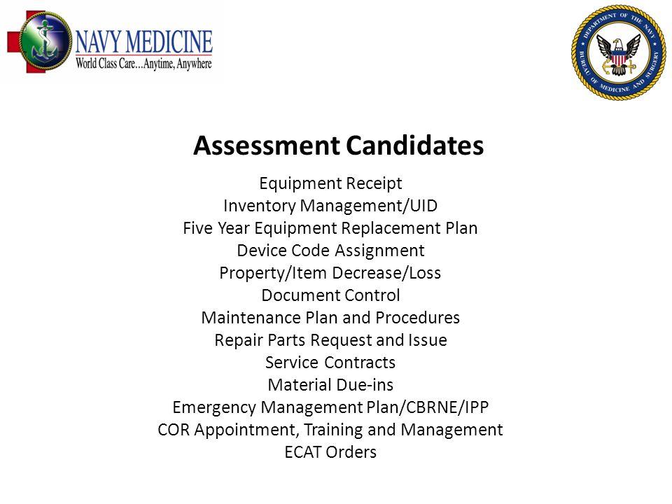 Assessment Candidates