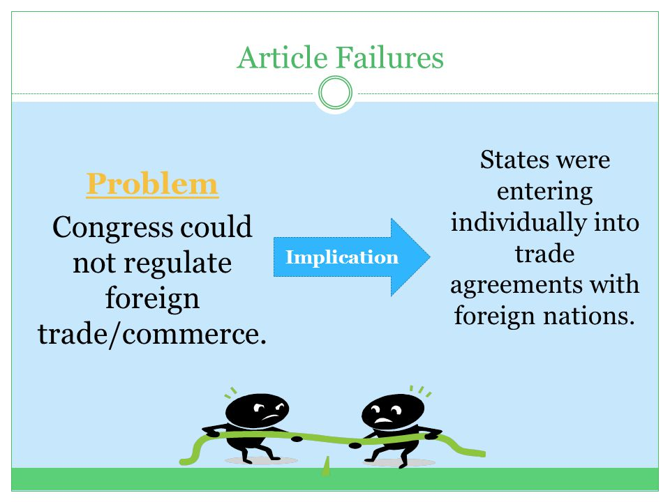 Congress could not regulate foreign trade/commerce.