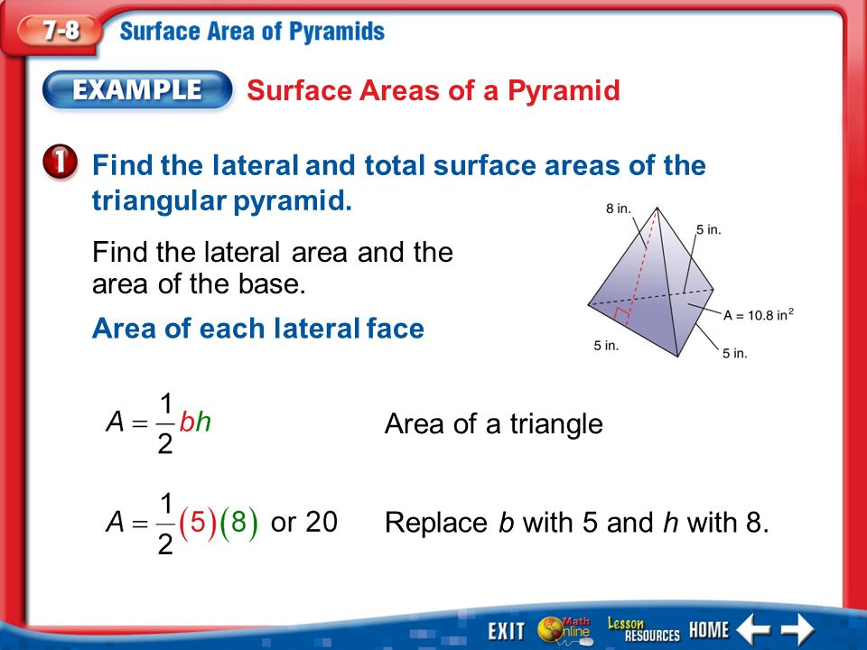 Surface Areas of a Pyramid