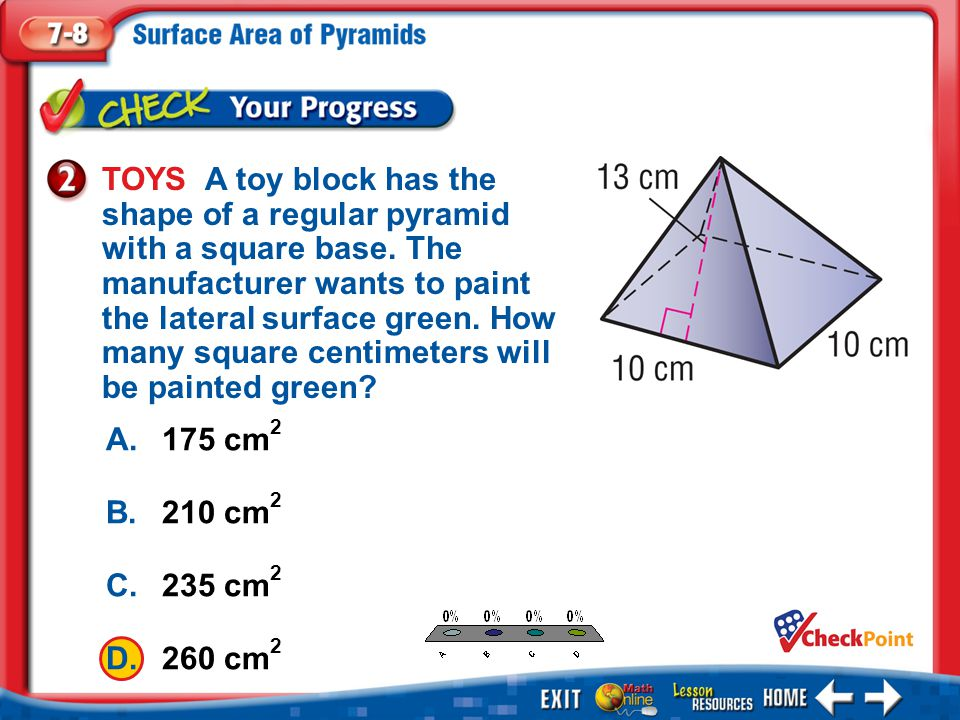 TOYS A toy block has the shape of a regular pyramid with a square base
