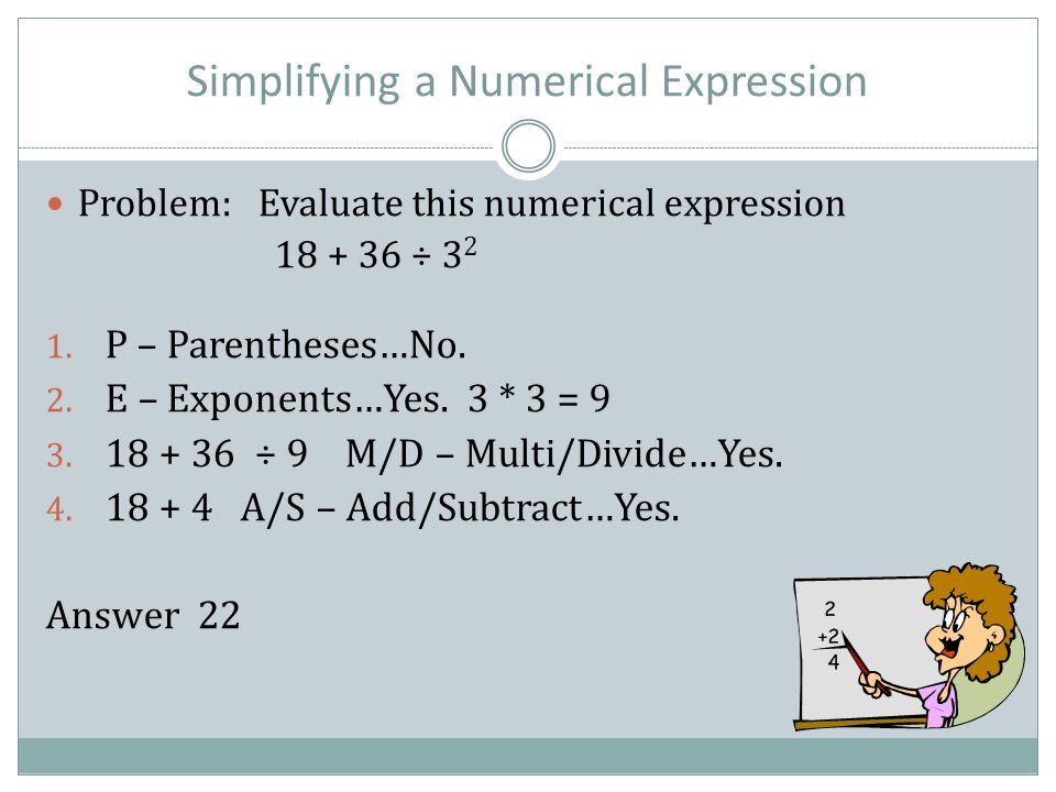 Simplifying a Numerical Expression