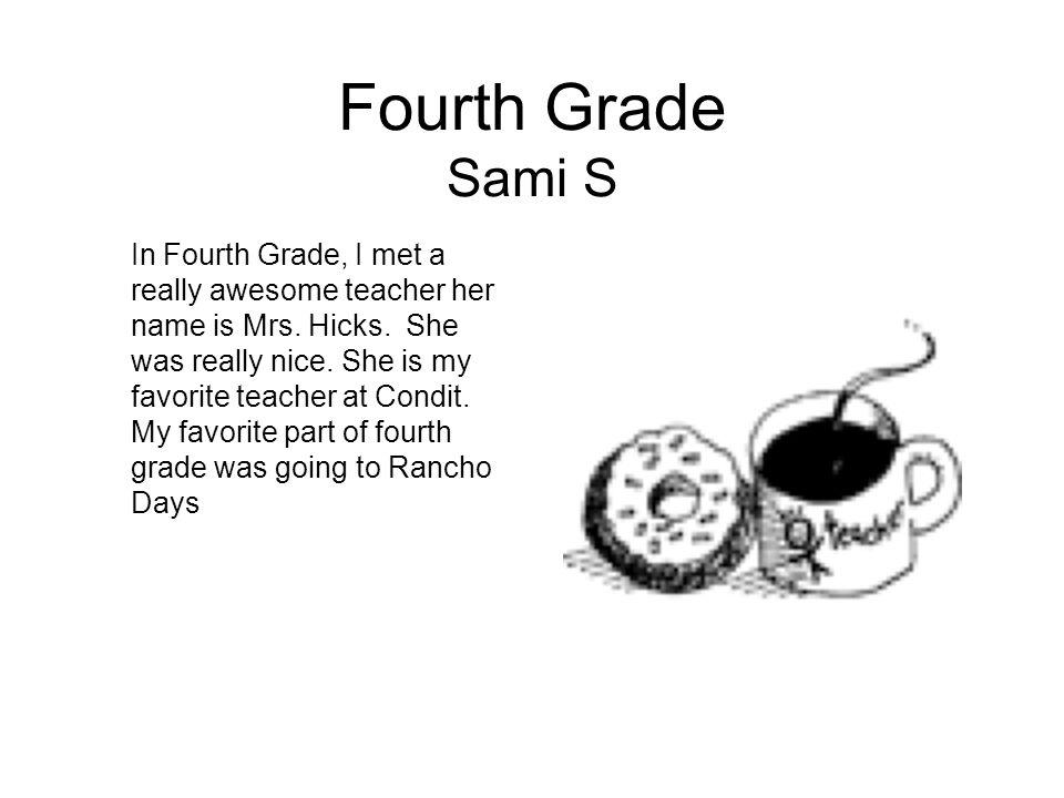 Fourth Grade Sami S