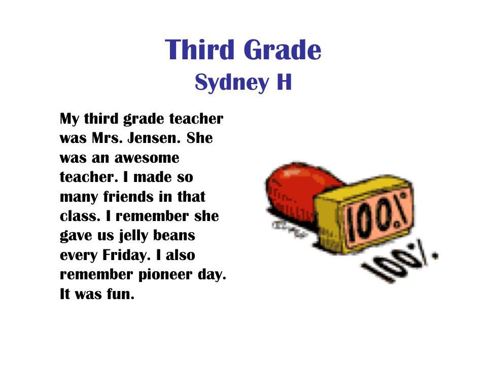 Third Grade Sydney H