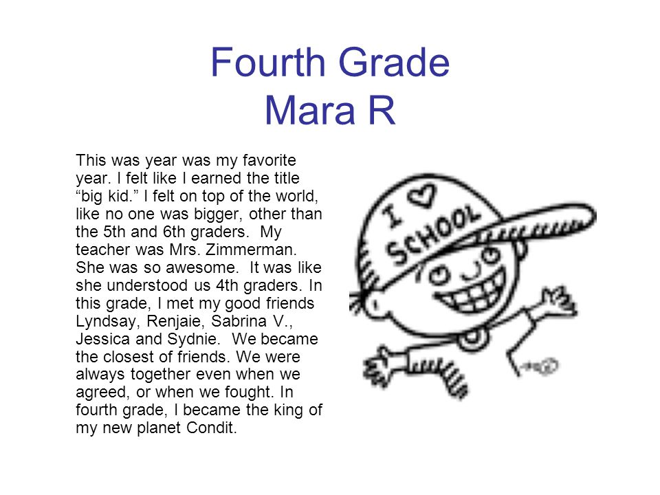 Fourth Grade Mara R