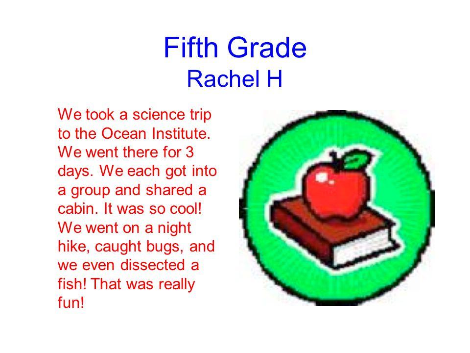 Fifth Grade Rachel H