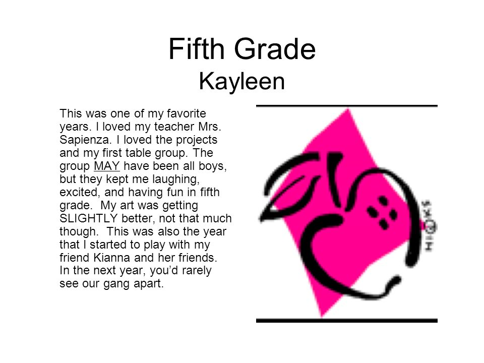 Fifth Grade Kayleen