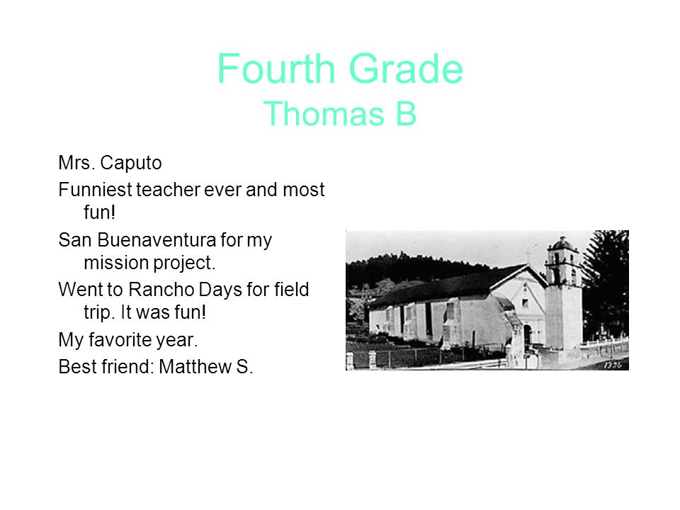 Fourth Grade Thomas B Mrs. Caputo Funniest teacher ever and most fun!