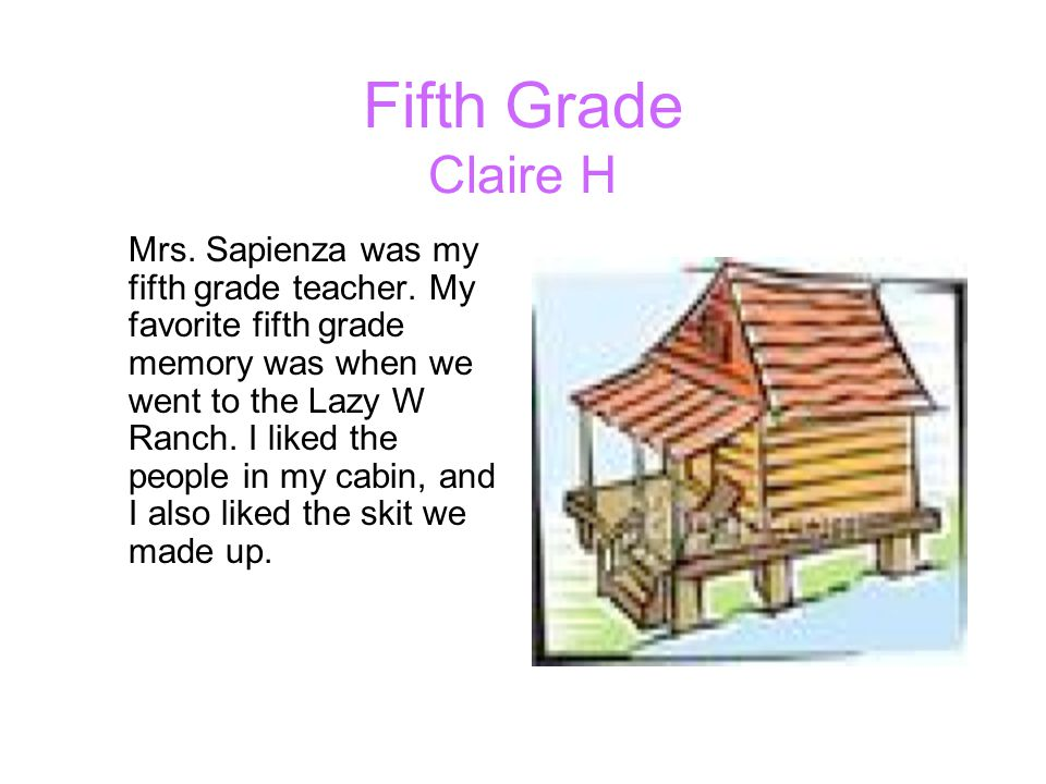 Fifth Grade Claire H