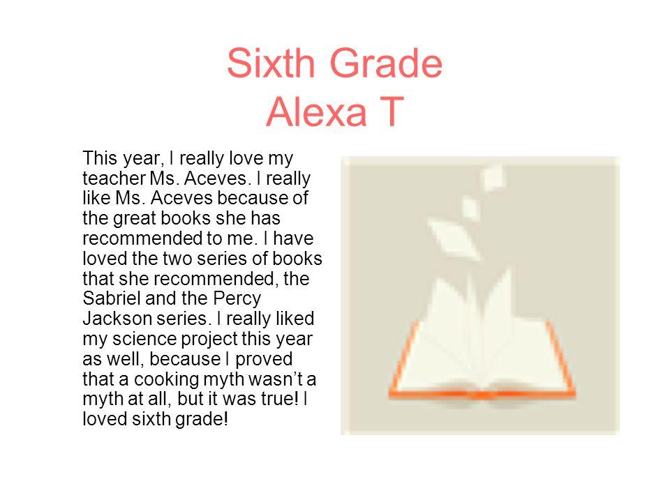 Sixth Grade Alexa T