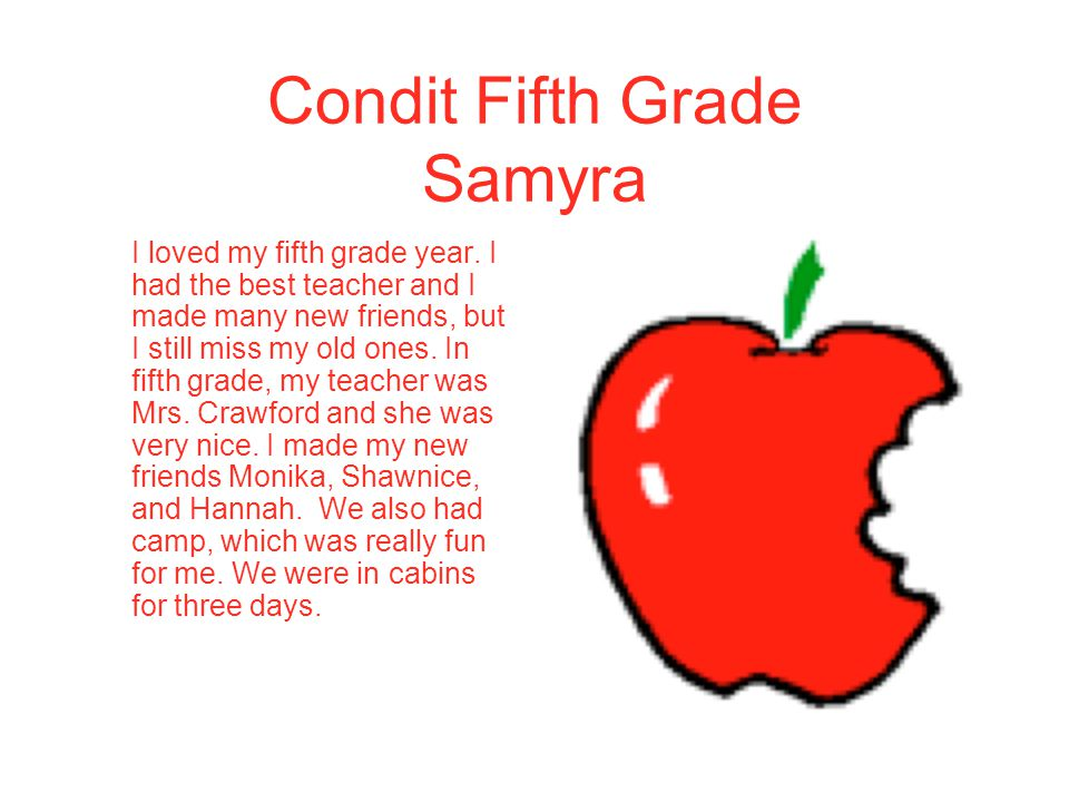 Condit Fifth Grade Samyra