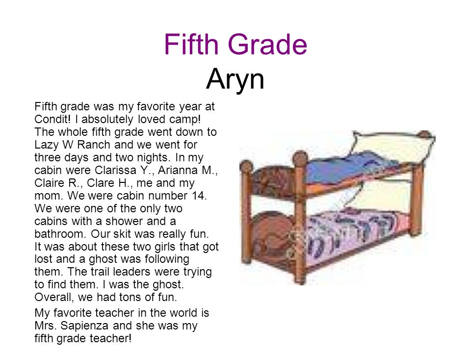 Fifth Grade Aryn