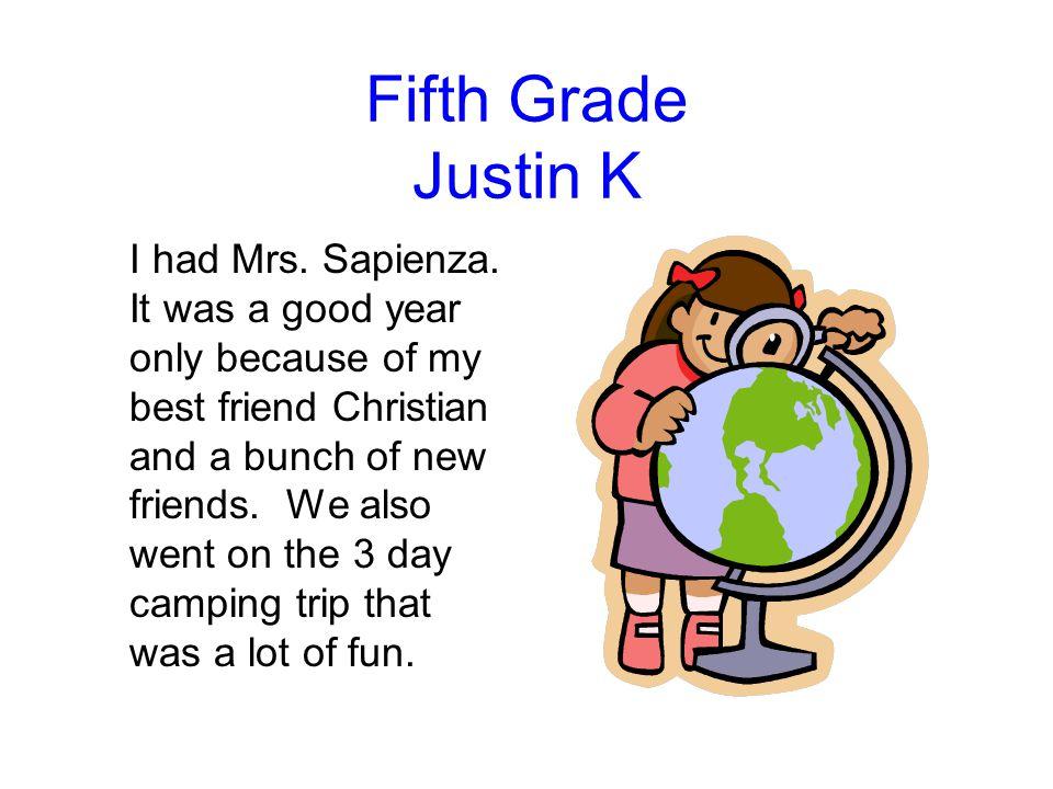 Fifth Grade Justin K