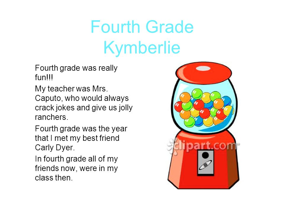 Fourth Grade Kymberlie
