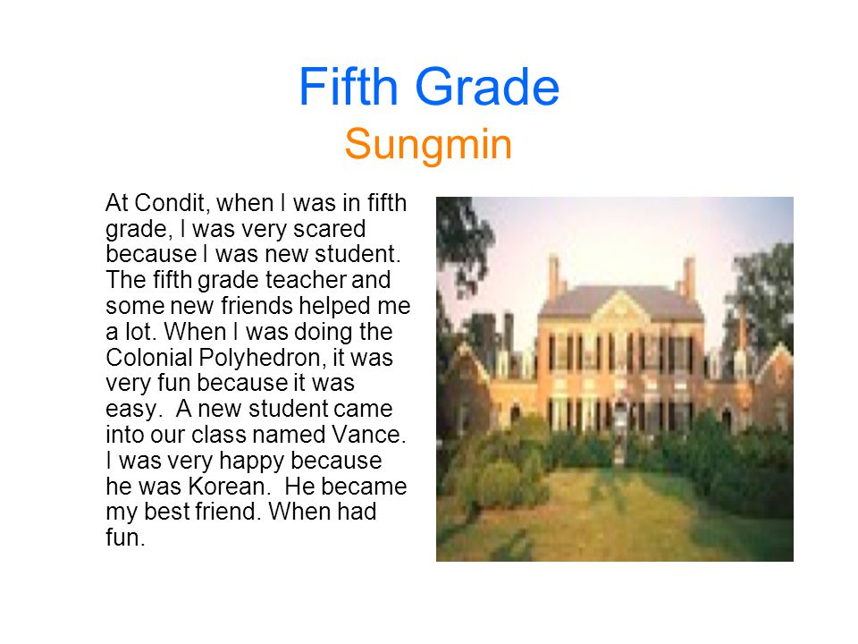 Fifth Grade Sungmin