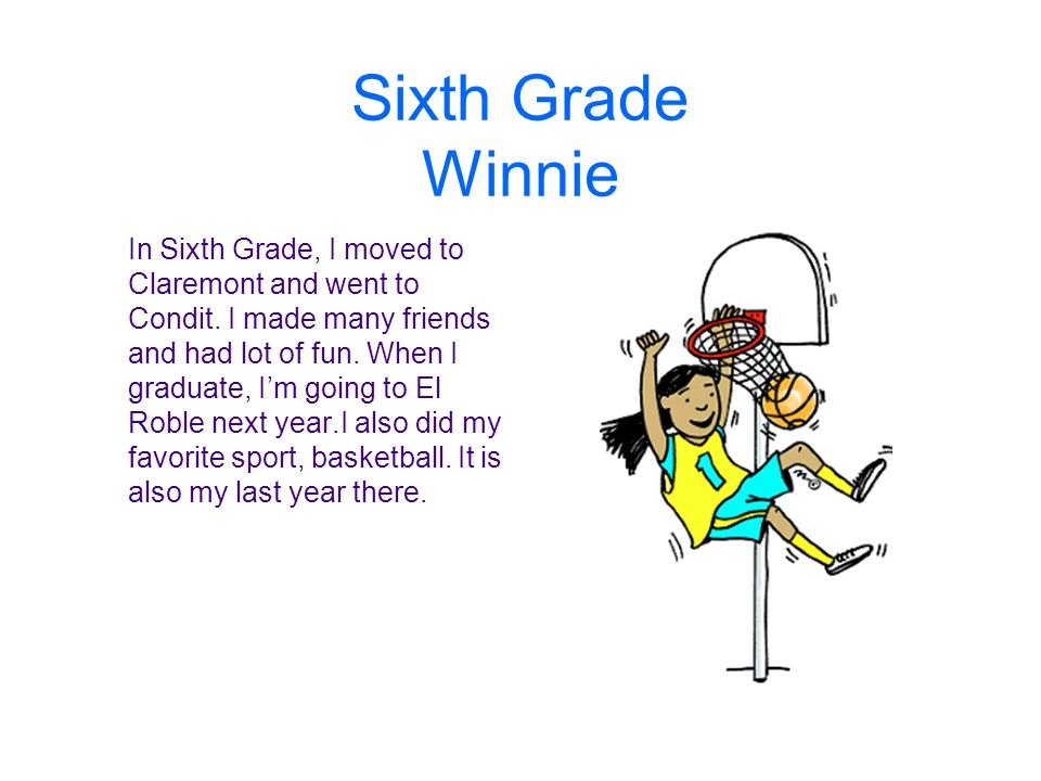 Sixth Grade Winnie