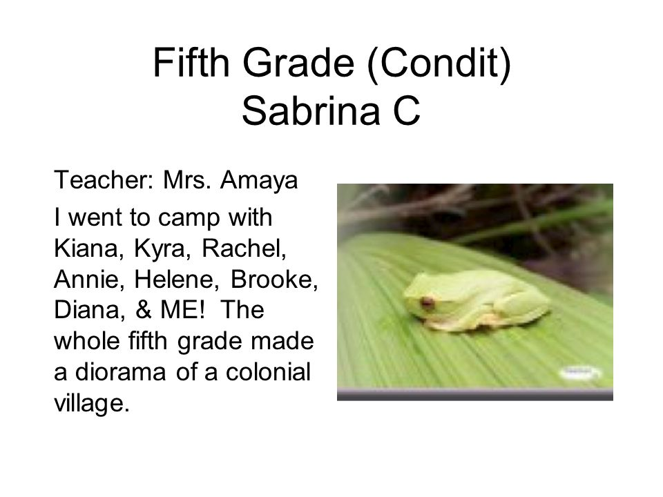 Fifth Grade (Condit) Sabrina C