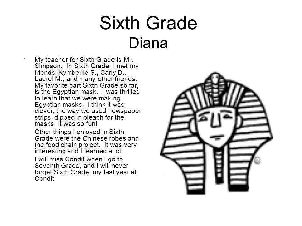 Sixth Grade Diana