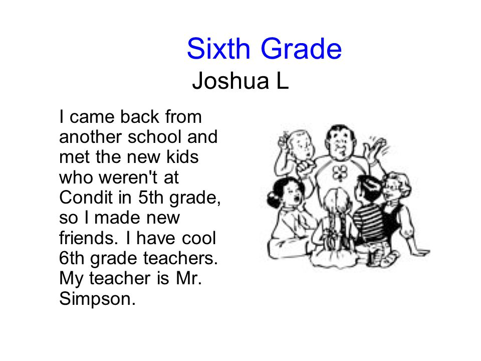 Sixth Grade Joshua L