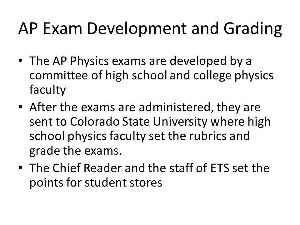 AP Exam Development and Grading