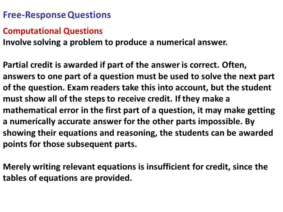 Free-Response Questions