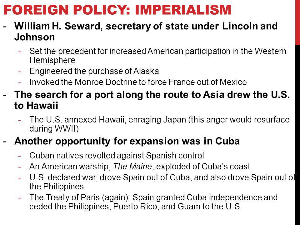 Foreign Policy: Imperialism