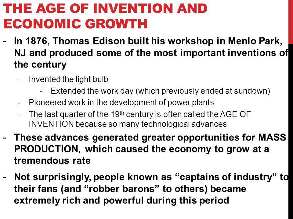 The Age of Invention and Economic Growth