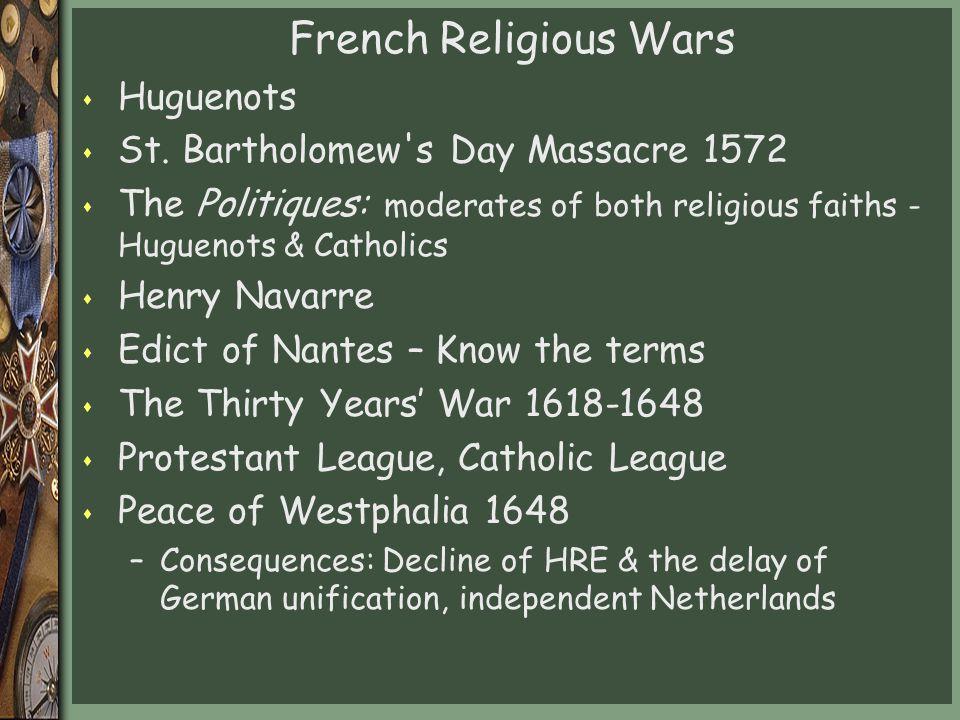 French Religious Wars Huguenots St. Bartholomew s Day Massacre 1572