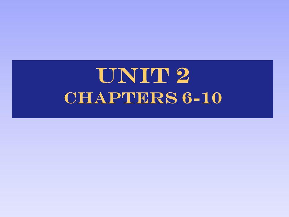 Unit 2 Chapters 6-10
