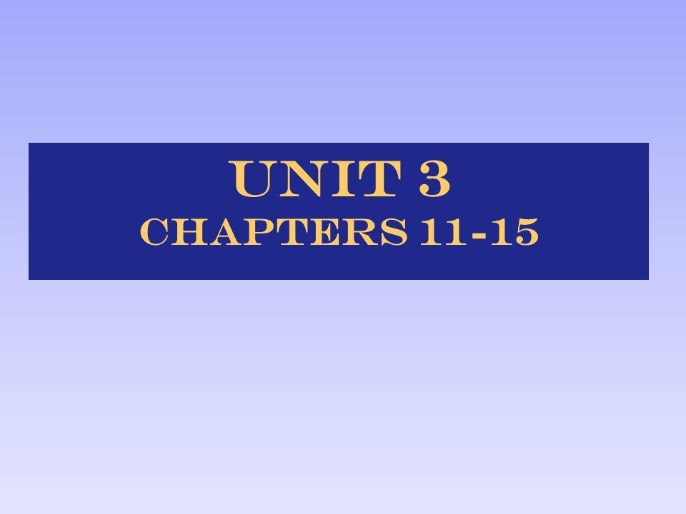 Unit 3 Chapters 11-15