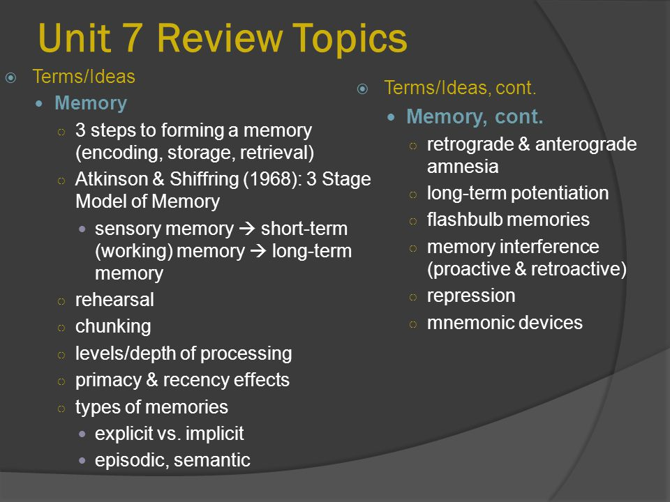 the effects on primacy and recency in short term memory Primacy and recency effect activity where is the distinction between short-term and long-term memory what makes these two types of memory different.